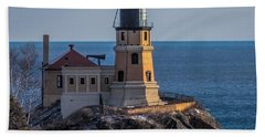 Sunlight On Split Rock Lighthouse Bath Towel