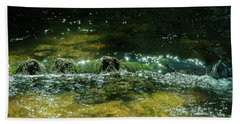 Hand Towel featuring the photograph Sunlight On The Ripples by Frank Madia