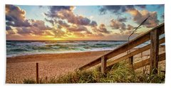 Bath Towel featuring the photograph Sunlight On The Sand by Debra and Dave Vanderlaan