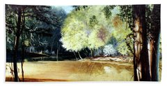 Sunlight On Village Creek Hand Towel