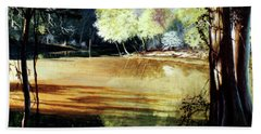 Sunlight On Village Creek Bath Towel