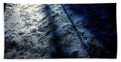 Sunlight Shadows On Ice - Abstract Bath Towel