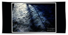 Sunlight Shadows On Ice - Abstract Hand Towel