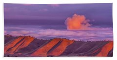 Sunlit Hills And Clouds Hand Towel