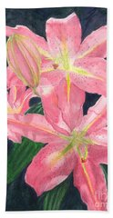 Sunlit Lilies Hand Towel