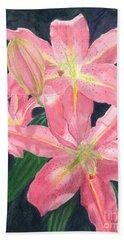 Sunlit Lilies Bath Towel