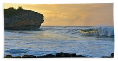 Sunlit Waves - Kauai Dawn Hand Towel