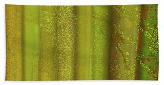 Sunlit Fall Forest Hand Towel