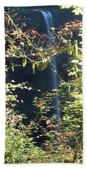 Bath Towel featuring the photograph Sunlite Silver Falls by Thomas J Herring