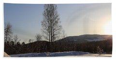 Sunny Day In Norway.  Bath Towel