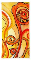Sunny Flower - Art By Dora Hathazi Mendes Hand Towel by Dora Hathazi Mendes