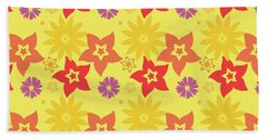 Sunny Flowers Bath Towel