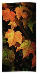 Sunny Leaves Hand Towel