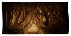 Sunny Morning In Dark Hedges Hand Towel