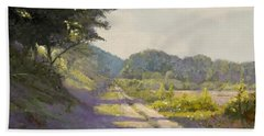 Sunny Road To The Forest Bath Towel