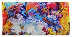 Sunny Side Of The Street - Colorful Psychedelic Abstract Painting Bath Towel
