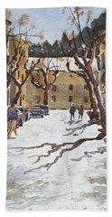 Sunny Street, Valledemossa Bath Towel