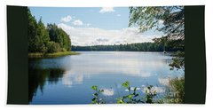 Sunny Summer Day In Kangaslampi Finland Hand Towel