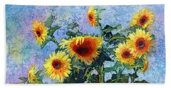 Hand Towel featuring the painting Sunny Sundance by Hailey E Herrera