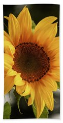 Hand Towel featuring the photograph Sunny Sunflower by Jordan Blackstone