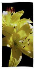 Sunny Yellow Lilies Hand Towel