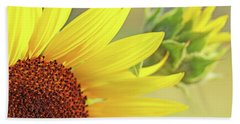 Bath Towel featuring the photograph Sunny Yellow Sunflower by Jennie Marie Schell