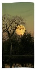 Bath Towel featuring the photograph November Supermoon  by Chris Berry