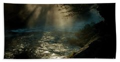 Sunrays At Fork River Hand Towel