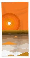 Sunrise Abstract In Orange Bath Towel