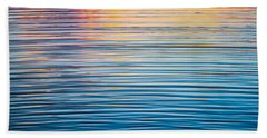 Sunrise Abstract On Calm Waters Hand Towel by Parker Cunningham