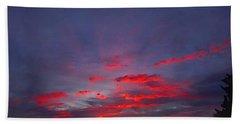Sunrise Abstract, Red Oklahoma Morning Bath Towel