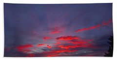Sunrise Abstract, Red Oklahoma Morning Bath Towel