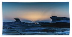 Sunrise And Rock Platform Landscape Hand Towel