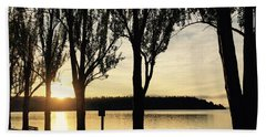 Sunrise And Silhouettes  Hand Towel