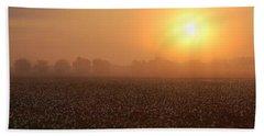 Sunrise And The Cotton Field Bath Towel