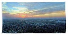 Hand Towel featuring the digital art Sunrise At 400 Agl by Dave Luebbert