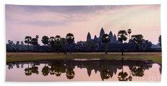 Sunrise At Angkor Wat Bath Towel