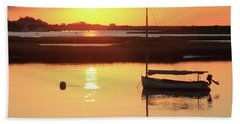 Sunrise At Bass River Hand Towel by Roupen  Baker