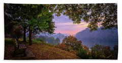 Sunrise At River Rd  Hand Towel