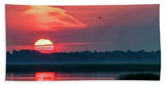 Hand Towel featuring the photograph Sunrise At Cheyenne Bottoms 03 by Rob Graham