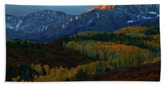 Bath Towel featuring the photograph Sunrise At Dallas Divide During Autumn by Jetson Nguyen