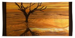 Sunrise At Hunting Beach Hand Towel