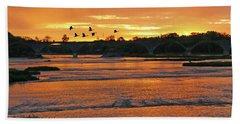Sunrise At Interurban Bridge 5241 Bath Towel