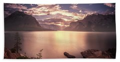 Sunrise At Lake Minnewanka Hand Towel