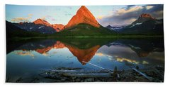 Sunrise At Many Glaciers Bath Towel by Craig J Satterlee