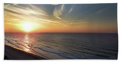 Sunrise At North  Myrtle Beach Hand Towel