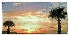 Hand Towel featuring the photograph Sunrise At Ocean Isle by Kerri Farley