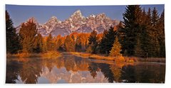 Sunrise At Schwabacher Landing  Hand Towel