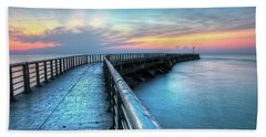 Sunrise At Sebastian Inlet Hand Towel