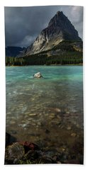 Sunrise At Swiftcurrent Lake Hand Towel